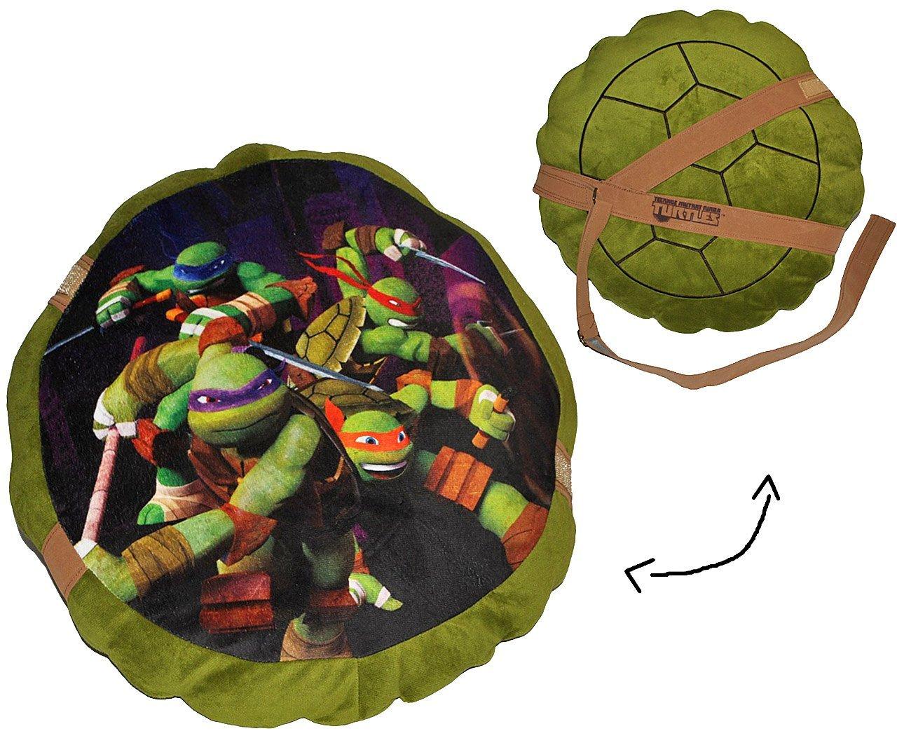 Kinde.. incl alles-meine.de GmbH 2 in 1: Kissen 44 cm * 44 cm Kuschelkissen // Schildkr/ötenpanzer Name Schildkr/öte Teenage Mutant Ninja Turtles gro/ß sehr weich // Turtle