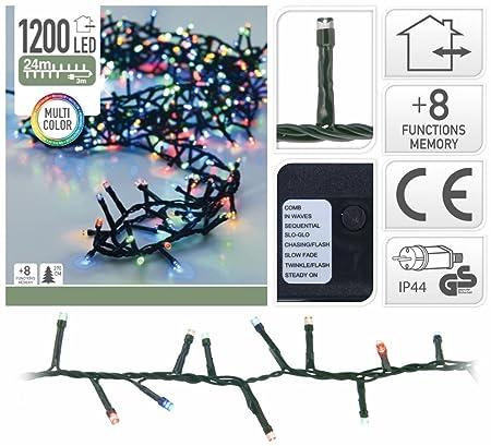 Kerstverlichting 1200 Leds Multi Color Met Controller 24m Amazon