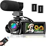 Video Camera Camcorder for YouTube, Aasonida Digital Vlogging Camera FHD 1080P 30FPS 24MP 16X Digital Zoom 3.0 Inch 270…
