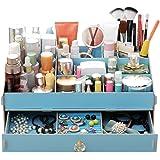 Cdet 1X Desktop Storage Box Stylish Wooden Car Decoration Home Supplies Cosmetic Box Blue
