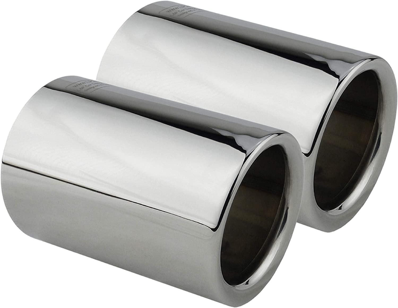 L/&P A306 2 Auspuffblenden Endrohrblenden Chrom Edelstahl spiegel poliert f/ür F20 F21 125i 125d 225d F30 F31 325d 330d Auspuffblende Plug/&Play Endrohrblende Auspuff Blende Endrohre