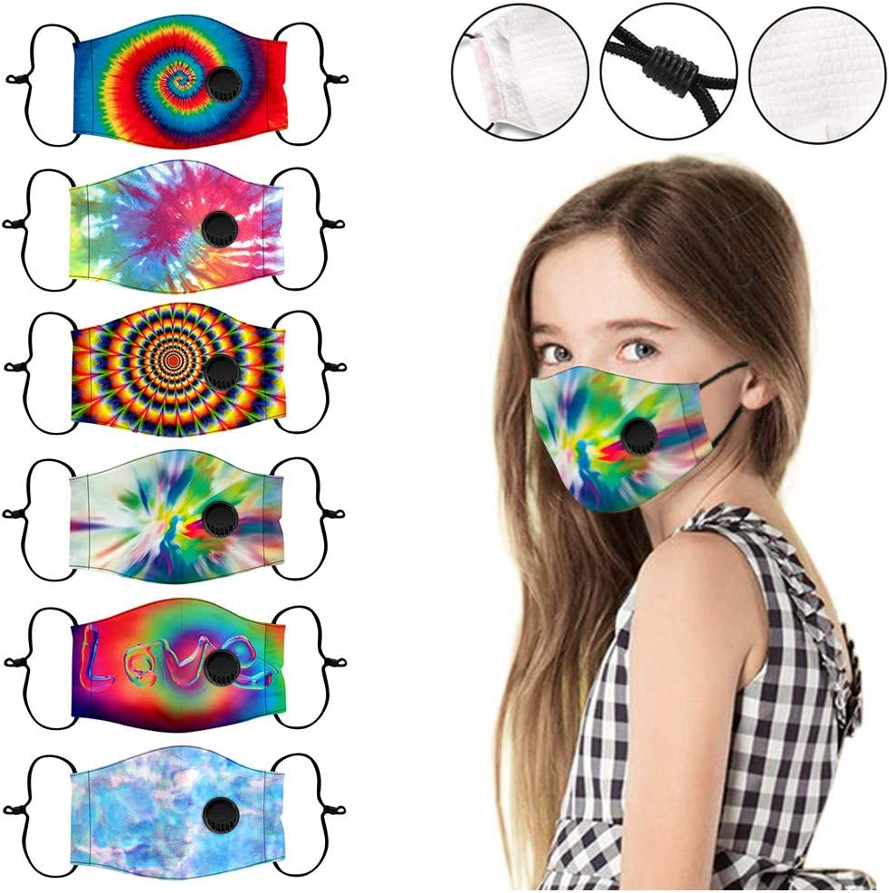 Yinella Kids Fashion Gradient Washable Reusable Protective Mouth Cloth Cover Childrens Face Bandanas Outdoor School
