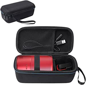Esimen Hard Travel Case for Nebula Capsule Smart Mini Projector by Anker and Remote Control USB Flash Drive Accessories Carry Bag Protective Storage Box (Black)