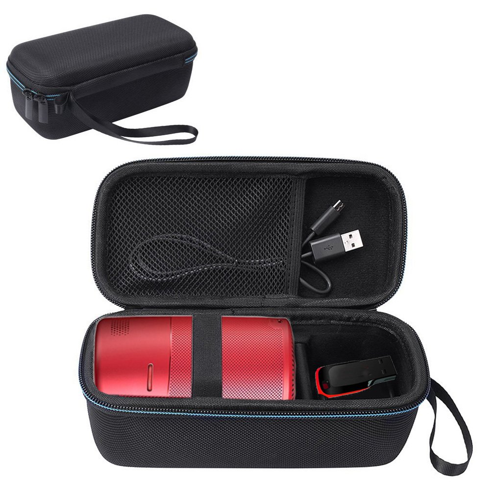 Esimen Hard Travel Case for Nebula Capsule Smart Mini Projector by Anker and USB Flash Drive Accessories Carry Bag Protective Storage Box (Black) by Esimen