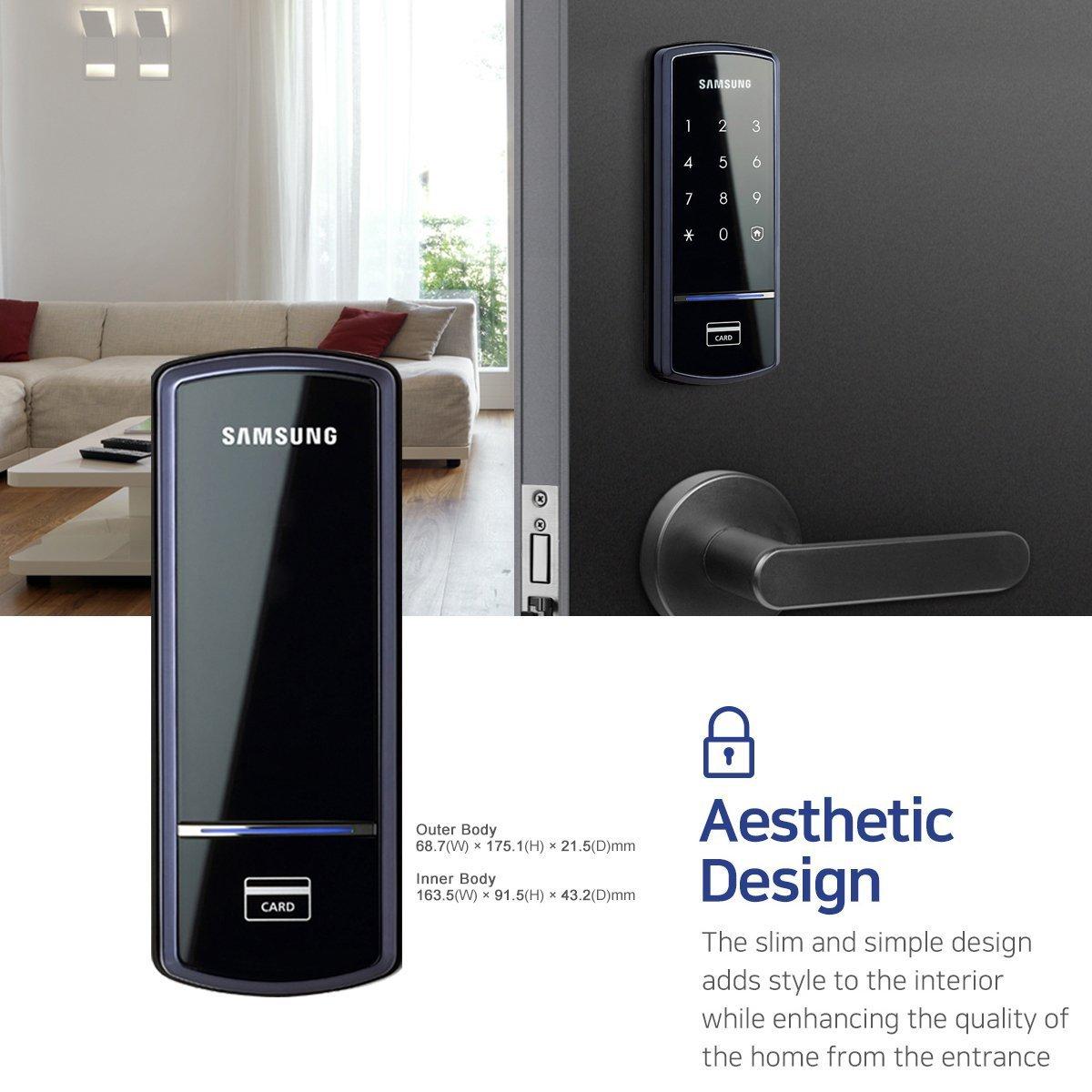 Amazon Samsung Shs 1321 Digital Door Lock Rim Deadbolt