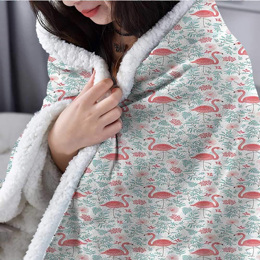 Zodel Baby Blanket Flamingo Botanical Flourish Upgraded Thick Lazy Blanket Blanket W59 x L78