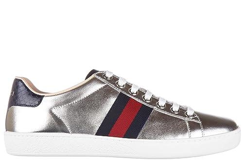 100% autentico 14abc 0344d Gucci Scarpe Sneakers Donna in Pelle Nuove Silk Soft Ayers ...