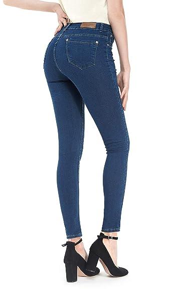 Menina Vaqueros Ajustados elásticos de Mujer Pantalones de Mezclilla Slim Fit: Amazon.es: Ropa y accesorios