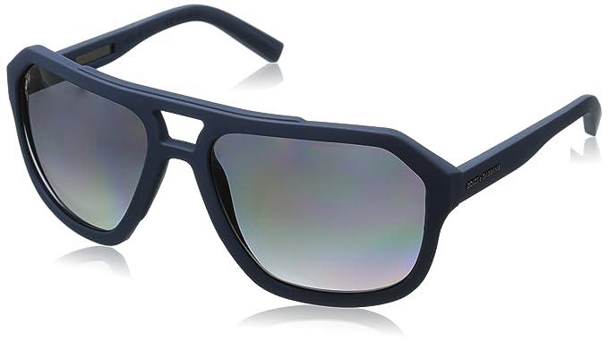 2231ed6a56e5 D G Dolce   Gabbana Mens 0DG2146 Rectangular Sunglasses