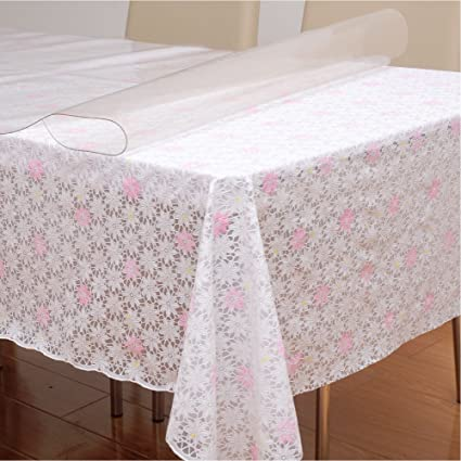 ZnzbztLace-pelusa plástico de PVC mesa de café toalla escritorio idílico armar cosecha impermeable oro