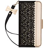 WWW Samsung Galaxy Note 10 Case, Galaxy Note 10 Wallet Case,[Luxurious Romantic Carved Flower] Leather Wallet Case with [Make