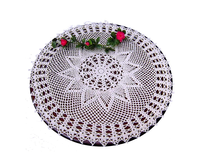 Amazon Laivigo New Handmade Crochet Lace Round Table Cloth