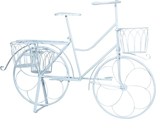 Biscottini - Bicicleta portaflores de hierro forjado con acabado ...