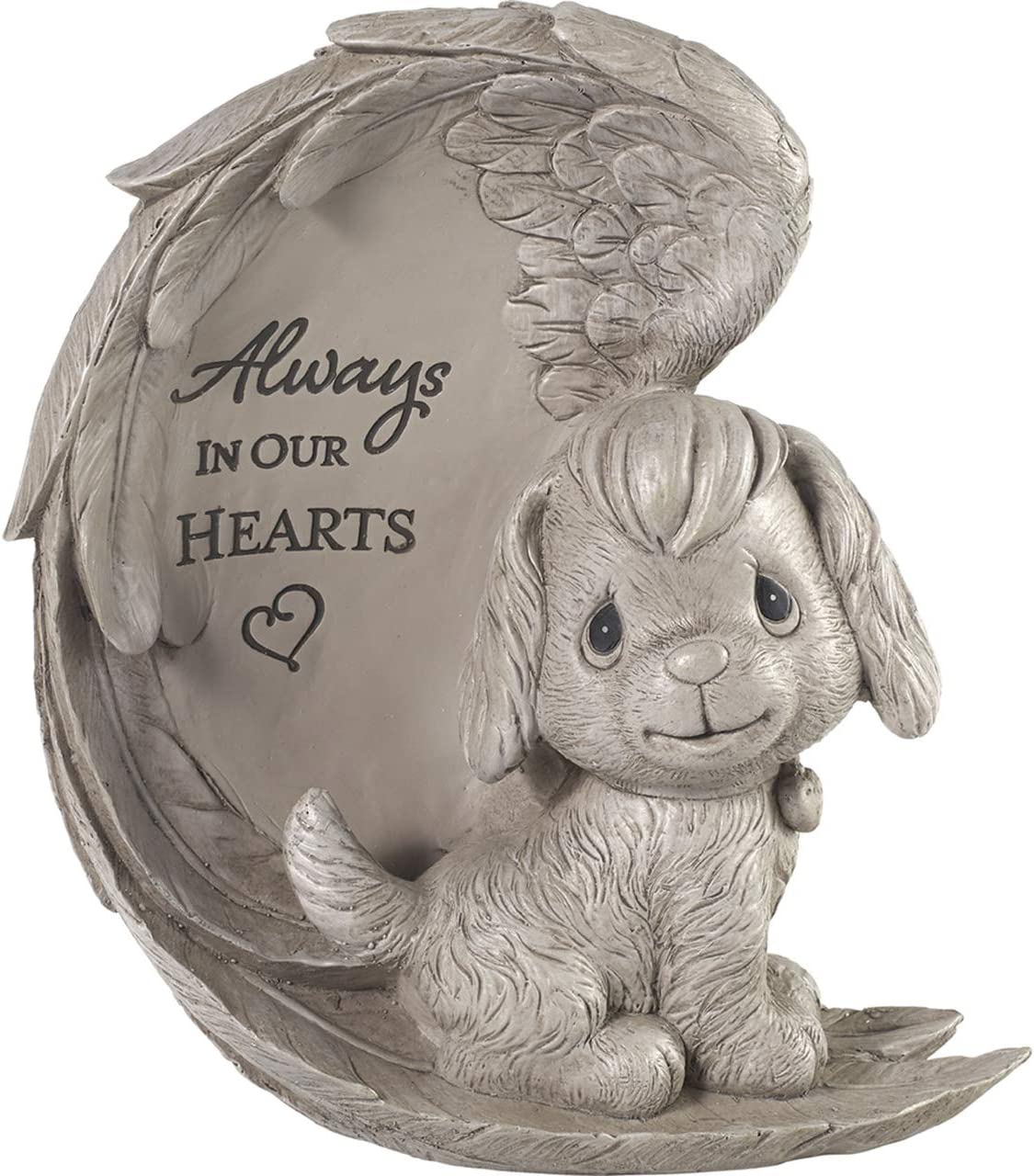 Precious Moments 193422 Always in Our Hearts Dog Memorial Garden Stone, One Size, Gray