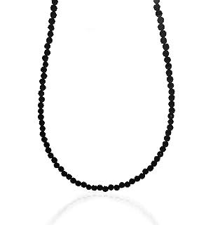 iJewelry2 Genuine Hematite Pave Bead & Onyx 10mm Balls Hip Hop Men Unisex Long Necklace 27