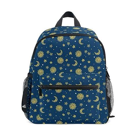 COOSUN Sol y la Luna Y Estrellas Kinder Kids Mini Mochila preescolar bolsa del niño Multicolor