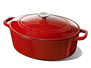 Cuisinart 7 Quart Oval Casserole, Red Gradient