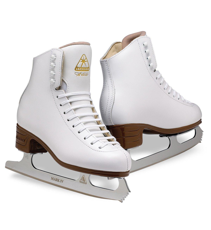 Jackson Ultima  Artiste JS1791 White Kids Ice Skates, Width C, Size 2.5 by Jackson Ultima