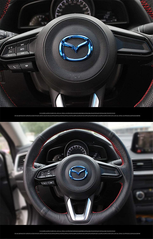 wangjianbin F/üR Mazda Lenkrad Abzeichen Emblem Aufkleber F/üR Mazda Logo Atenza Axela Cx4 Cx5 Zubeh/öR 3D Auto Lenkrad Dekorationen