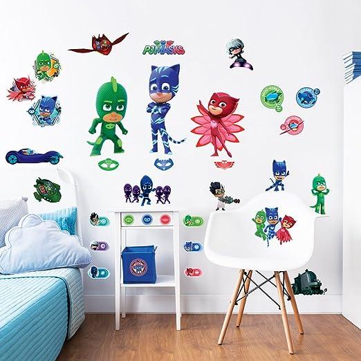 PJ Masks Walltastic, Adhesivos para Pared, Multicolor