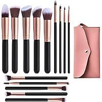 14 Pcs Conical Makeup Brushes Set With Case Bag,Professional Synthetic Kabuki Makeup Brush Set Kit for Cosmetics…