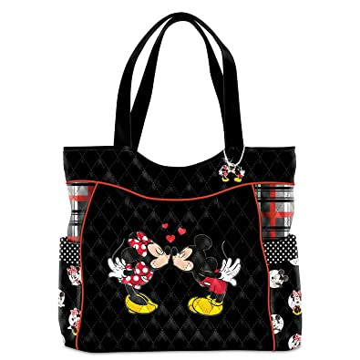 c27620897 Amazon.com: Disney Mickey Mouse And Minnie Mouse Love Story Women's Quilted Tote  Bag by The Bradford Exchange: Shoes