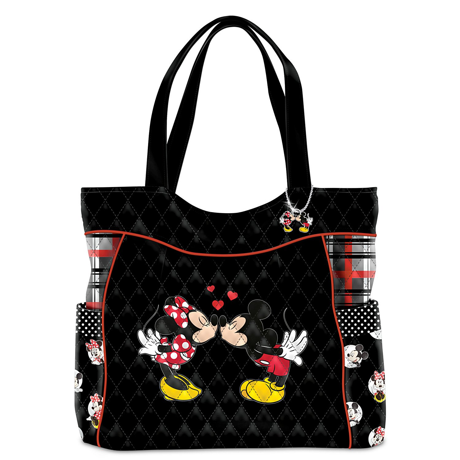Disney Mickey Mouse And Minnie Mouse Love Story Women's Quilted Tote Bag by The Bradford Exchange