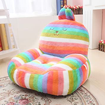 Incroyable MAXYOYO Super Cute Rainbow Striped Rabbit Stuffed Plush Toy Bean Bag Chair,  Cute Rabbit Plush
