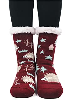 PUTUO Pantuflas Mujer Gruesos Calcetines de piso casa abrigados Invierno Térmico Calcetines, Mujer Antideslizante Calientes…