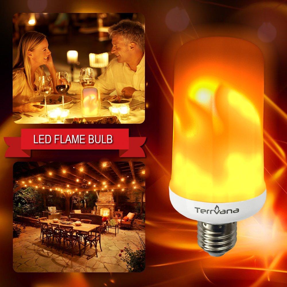 terrvana LEDちらつき炎効果ライト電球, e26 LED Flame Light Bulbs Candle、Simulated装飾ライト雰囲気照明電球for Flaming Tikiバー装飾 B078HHBZJF 14197