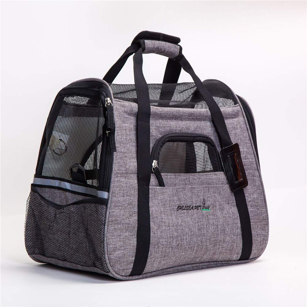 Pet Bag Out Portable Snowflake Pet Supplies One Shoulder Breathable Cat Litter Kennel Grid Travel Boarding