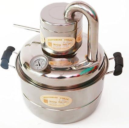 10L Nuevo kit de destilación de alcohol casera Moonshine para agua, vino o bebidas espirituosas, con bomba en el hervidor
