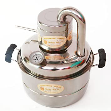 10L Nuevo kit de destilación de alcohol casera Moonshine para agua, vino o bebidas espirituosas, con bomba en el hervidor: Amazon.es: Hogar