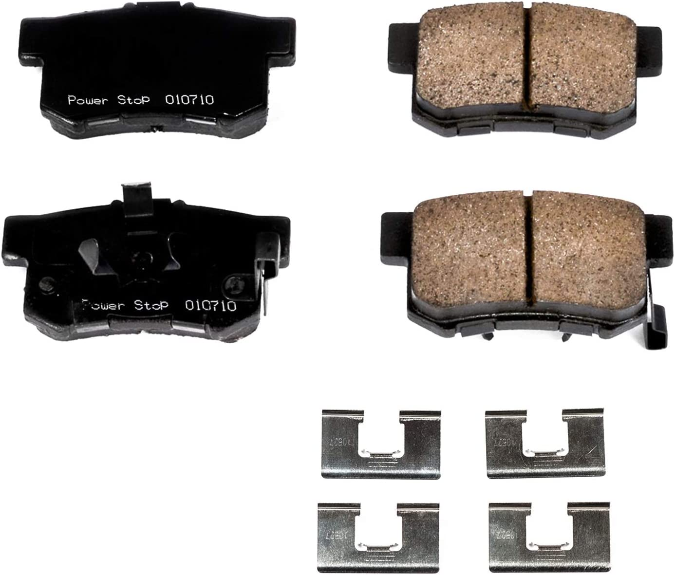 Power Stop 17-914 Z17 Front Ceramic Brake Pads with Hardware