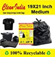 Clean India™ - Garbage Bags - 19X21 | 3 Packs of 30 Pcs - 90 Pcs | Black Medium Disposable Dustbin Bags