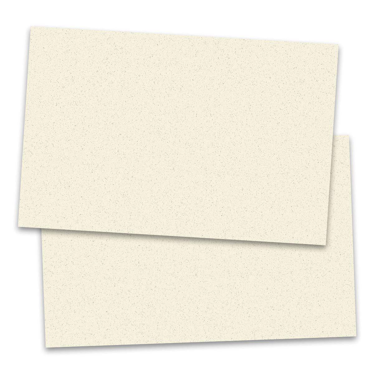 Almond Cream Perfectly Plain Postcards, Jumbo Size, 100 Count