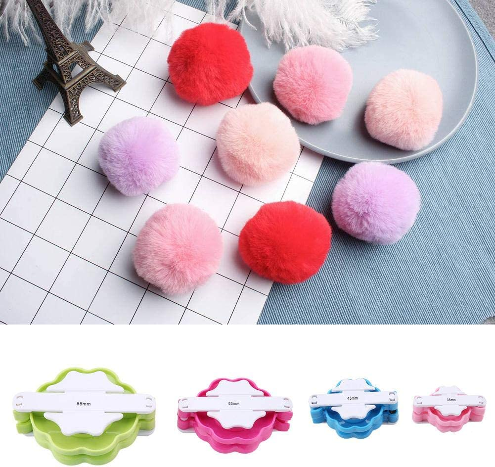 Pompom Maker Fluff Ball Knitting Tool Set Different Sizes Pompom Weaver Kit DIY Wool Ball Maker Set