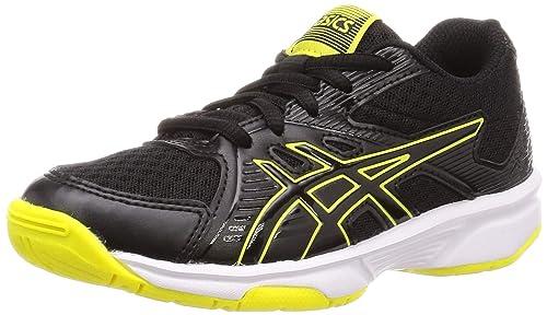 Asics Gel Upcourt 3 GS Junior Court Shoes (Black Sour Yuzu)   Direct Squash
