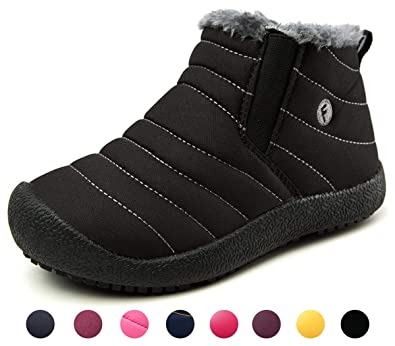 Yooeen Zapatos Invierno Botas Botines para Niños Niñas, Botas de Nieve Pelusa Forro y Impermeable Antideslizante: Amazon.es: Zapatos y complementos