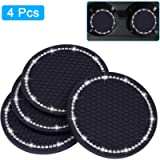 Bling Car Coasters, Wisdompro 4 Pack PVC Car Cup Holder Insert Coaster - Anti Slip Universal Vehicle Interior…
