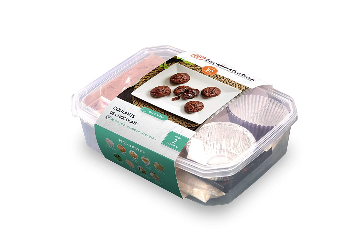 Kit para cocinar - Coulants de chocolate de Foodinthebox (6 coulants): Amazon.es: Alimentación y bebidas