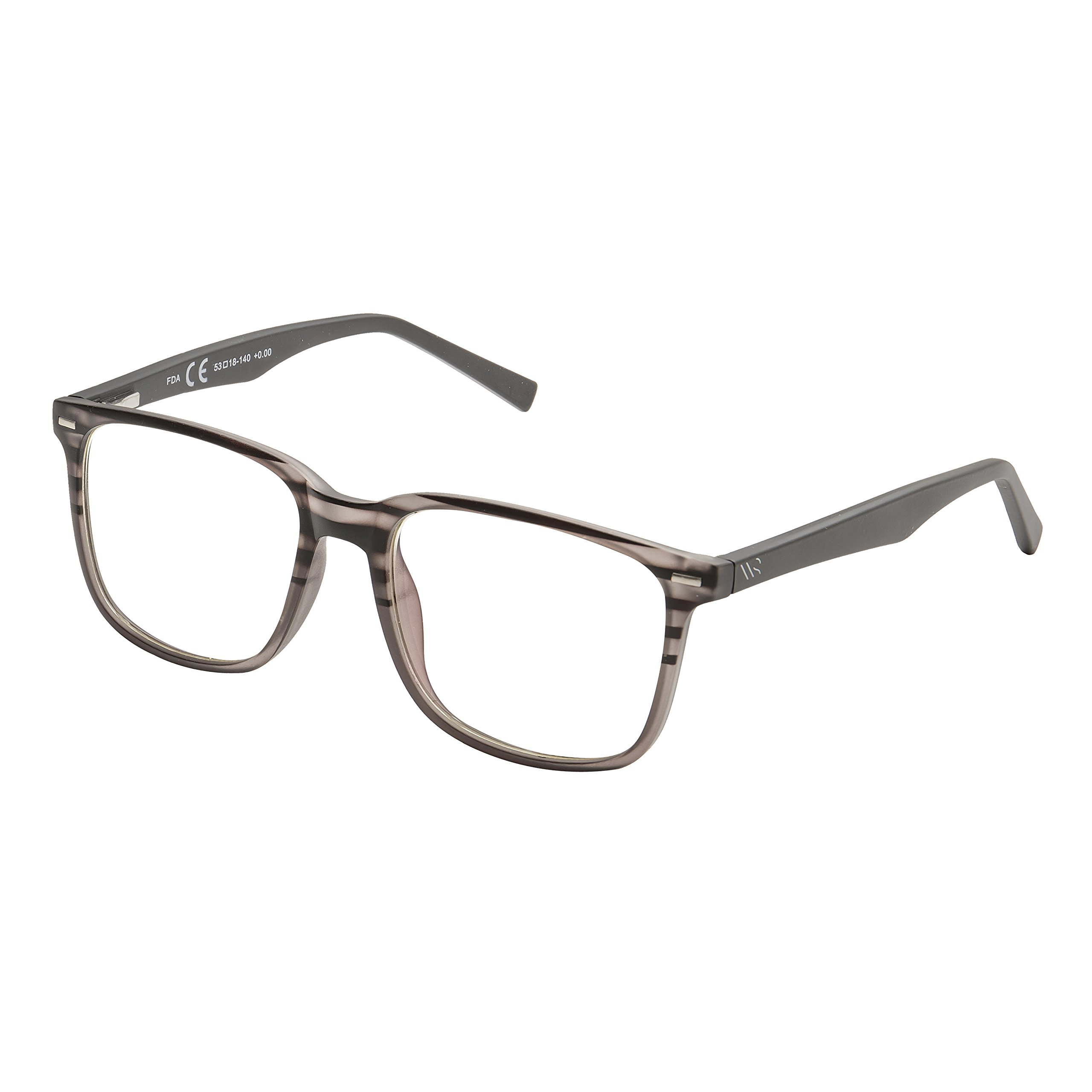 Blue Light Blocking Glasses,Cut UV400 Transparent Lens,Computer Reading Glasses,Anti Eyestrain/Anti Scratch/Anti Smudgy,Sleep Better for Women/Men (Grey, 0.00)
