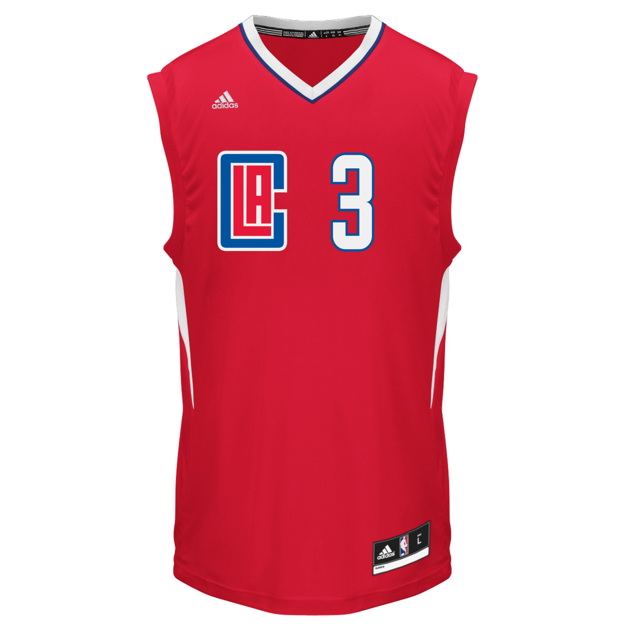 adidas NBA Los Angeles Clippers Chris Paul #3 Men's Replica Jersey, Small, White by adidas