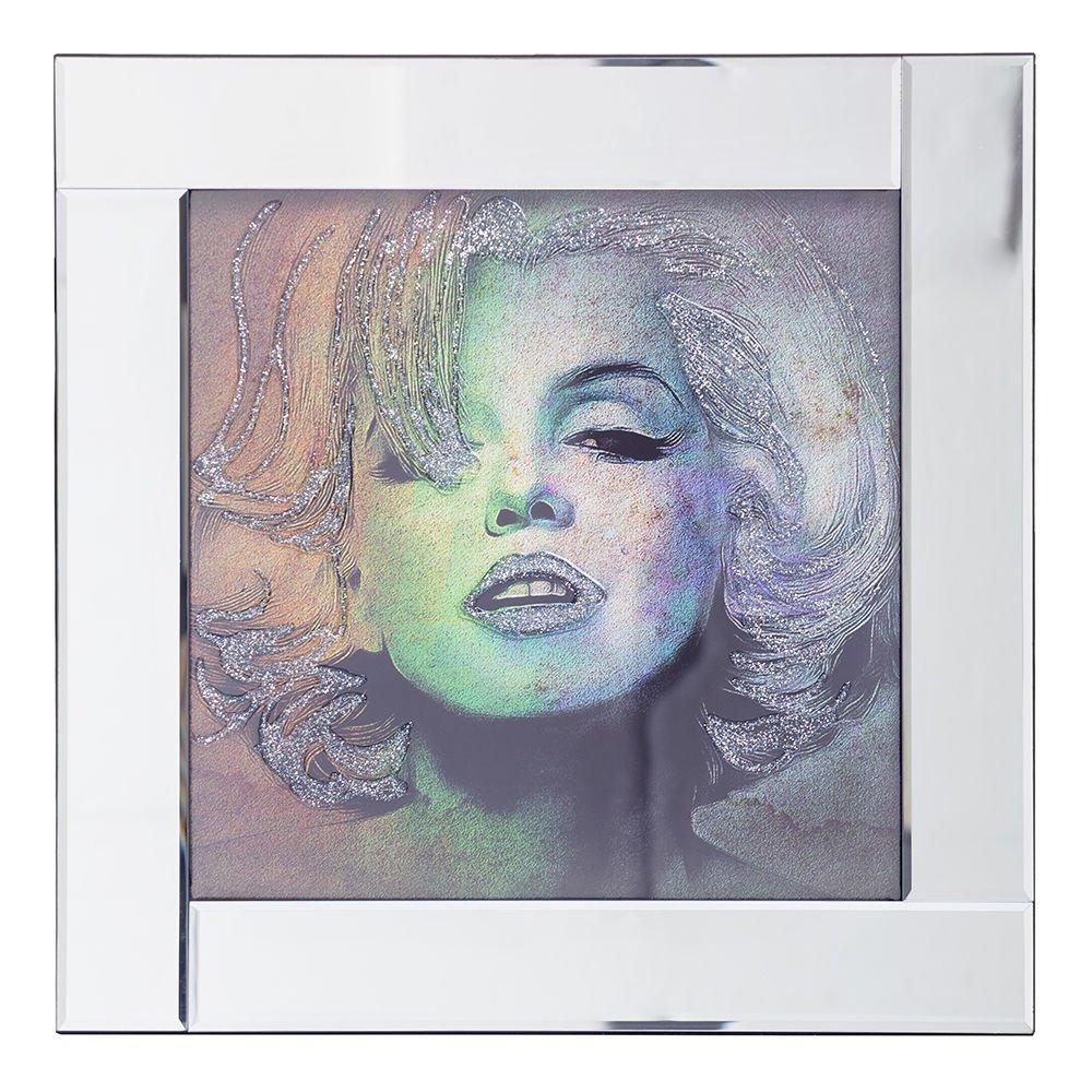 Amazon.de: Spiegel, quadratisch, Bild Rahmen mit Blättern Marilyn ...