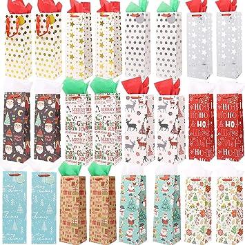 Amazon.com: Isbasa 24 bolsas de regalo de Navidad con papel ...