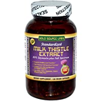 Organic Milk Thistle Capsules, 180 Caps, Pure Milk Thistle Powder Plus 80% Silymarin Extract Standardized Complex, 450 mg, Natural Liver Health Supplement, Immune Boost, Detox and Cleanse
