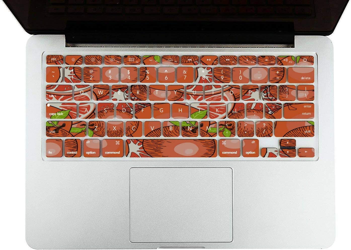 Mac Computer Case Summer Fruit Grapefruit Green Leaf Plastic Hard Shell Compatible Mac Air 11 Pro 13 15 Mackbook Pro Case Protection for MacBook 2016-2019 Version