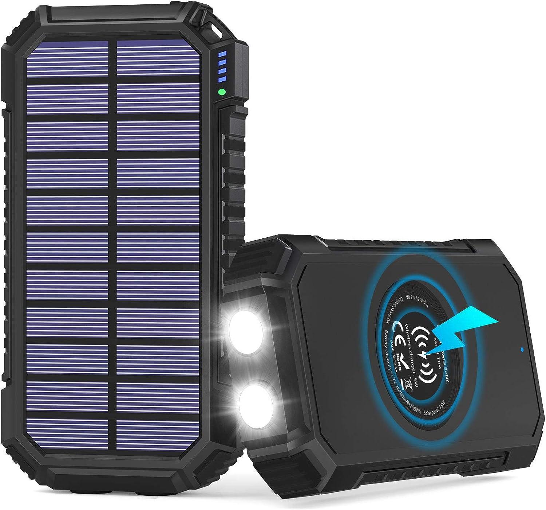 Solar Powerbank 26800mah Hiluckey Wireless Solar Elektronik