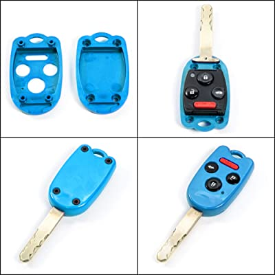 STAUBER Best Key Shell Replacement for Honda Accord, Ridgeline, Civic, and CR-V - KR55WK49308, N5F-A05TAA, N5F-S0084A - NO Locksmith Required Using Your Old Key and chip! - Blue: Automotive