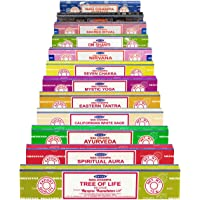Genuine Satya Sai Baba - NAG CHAMPA VARIETY MIX GIFT SET AA 12 X 15G BOXES OF INCENSE, INCLUDES NAG CHAMPA, SUPER HIT…